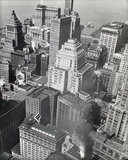 Financial District Rooftops, Manhattan Giclee Print by Berenice Abbott
