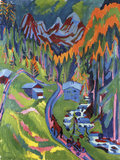 Sertig Path in Summer Giclee Print by Ernst Ludwig Kirchner