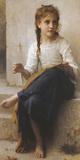 Joven costurera Lámina giclée por Bouguereau, William Adolphe