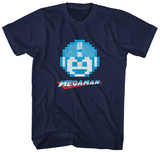 Mega Man- 8-Bit Smile T-shirts