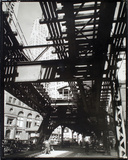 El' Second and Third Avenue Lines, Hanover Square and Pearl Street, Manhattan Giclee Print by Berenice Abbott