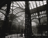 Penn Station, Interior, Manhattan Gicléedruk van Berenice Abbott