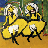 Two Dancers Giclee Print by Ernst Ludwig Kirchner