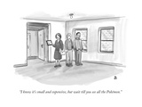 """I know it's small and expensive, but wait till you see all the Pokémon."" - New Yorker Cartoon Premium Giclee Print by Paul Noth"