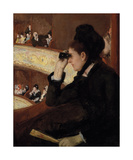 In the Loge, 1878 Premium Giclee Print by Mary Stevenson Cassatt