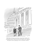 """""""Ruth Bader Ginsburg was just plain wrong trying to influence the Presiden..."""" - Cartoon Regular Giclee Print by Kim Warp"""