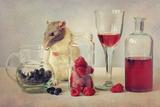 Snoozy Loves to Eat Photographic Print by Ellen Van Deelen