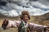 Smile, Tibet Fotografisk trykk av Sarawut Intarob