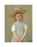 Child in a Straw Hat, c.1886 Premium Giclee Print by Mary Stevenson Cassatt