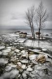 Frozen Lake Photographic Print by Vedran Vidak