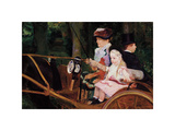 A Woman and a Girl Driving, 1881 Premium Giclee Print by Mary Stevenson Cassatt