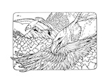 Coloring Page with Eagles Prints by  xaxalerik