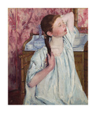 Girl Arranging Her Hair, 1886 Premium Giclee Print by Mary Stevenson Cassatt