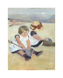 Children Playing on the Beach, 1884 Premium Giclee Print by Mary Stevenson Cassatt