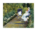 Children in a Garden (The Nurse) Premium Giclee Print by Mary Stevenson Cassatt