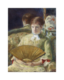 Woman with a Fan, c.1878-1879 Premium Giclee Print by Mary Stevenson Cassatt
