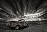 Old Truck (Mono) Photographic Print by Þorsteinn H. Ingibergsson