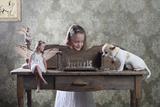 """Checkmate Or """"3 Against 1"""" Reproduction photographique par Victoria Ivanova"""