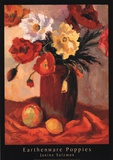 Earthenware Poppies Art by Janine Salzman