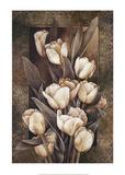 Golden Tulips Prints by Linda Thompson