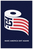 TP American Roll (Navy) Poster