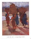 Leaving Godspur Market Art by Leslie Clark