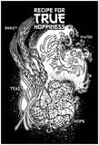 Recipe For True Hoppiness (White On Black) Poster