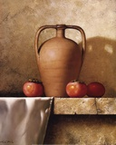 Olive Oil Jug with Persimmons Poster by Loran Speck