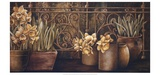 Ironwork with Daffodils Print by Linda Thompson