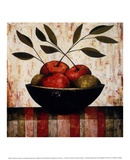 Fruit Bowl on Silk Print by Constance Bachmann