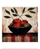 Fruit Bowl on Silk Print by Constance Bachmann