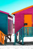 Awesome South Africa Collection - Colorful Houses Rasberry & Orange Photographic Print by Philippe Hugonnard