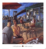 Cafe by the River Prints by Didier Lourenco