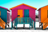 "Awesome South Africa Collection - Colorful Houses ""Seven"" Rasberry Photographic Print by Philippe Hugonnard"