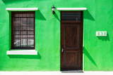 "Awesome South Africa Collection - Colorful Houses ""Sixty Three"" Green Photographic Print by Philippe Hugonnard"