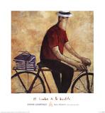 El Hombre De La Bicicleta Prints by Didier Lourenco