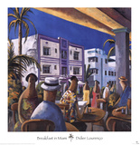 Breakfast in Miami Poster by Didier Lourenco