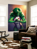 Totally Awesome Hulk No. 4 Cover Featuring She-Hulk Vægplakat af Meghan Hetrick