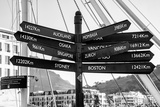 Awesome South Africa Collection B&W - Direction Sign Cape Town II Photographic Print by Philippe Hugonnard