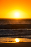 Awesome South Africa Collection - Sunset Blazing Sun over the Ocean I Photographic Print by Philippe Hugonnard