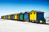 Awesome South Africa Collection - Colorful Beach Huts on Muizenberg - Cape Town VI Photographic Print by Philippe Hugonnard
