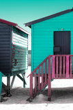"Awesome South Africa Collection - Colorful Houses ""Forty Six"" Aquamarine & Eggplant Photographic Print by Philippe Hugonnard"