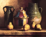 Moroccan Pottery with Pears Posters by Loran Speck