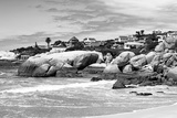 Awesome South Africa Collection B&W - Boulders Beach Cape Town Photographic Print by Philippe Hugonnard