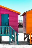 "Awesome South Africa Collection - Colorful Houses ""Seven"" Deep Pink & Teal Photographic Print by Philippe Hugonnard"