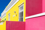 """Awesome South Africa Collection - Colorful Houses """"Ninety-One"""" Yellow & Pink Photographic Print by Philippe Hugonnard"""