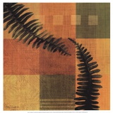 Fern Blocks II Prints by Tandi Venter