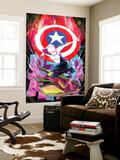 Spider-Gwen No. 6 Cover Featuring Captain America, Spider-Gwen Vægplakat af Robbi Rodriguez