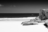 Awesome South Africa Collection B&W - Tranquil White Sand Beach Photographic Print by Philippe Hugonnard