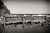 Awesome South Africa Collection B&W - Cape of Good Hope Sign Photographic Print by Philippe Hugonnard